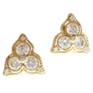 Michael Valitutti 14k Yellow Gold Cubic Zirconia Earrings