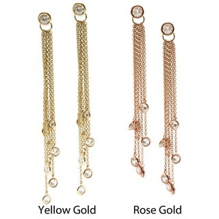 Michael Valitutti 14k Gold Cubic Zirconia Earrings