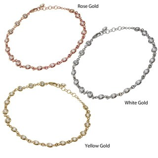 Michael Valitutti 14k Gold Cubic Zirconia Bracelet