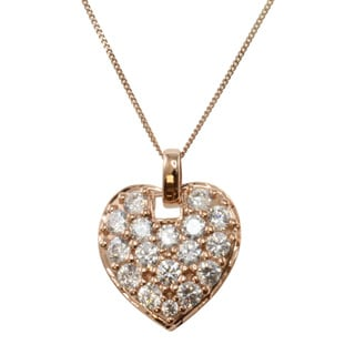 Michael Valitutti 14k Rose Gold Cubic Zirconia Necklace