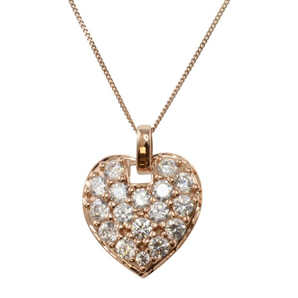 Michael Valitutti 14k Rose Gold Cubic Zirconia Necklace
