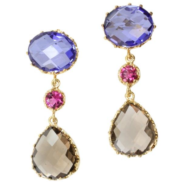 Michael Valitutti/ Colette Two-tone Multi-gemstone Earrings