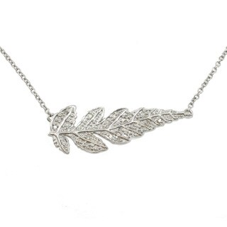 Michael Valitutti Colette Diamond Accent 'Feather' Necklace (1/5ct TDW)