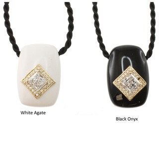 Michael Valitutti 14k Gold Multi-gemstone Cubic Zirconia Necklace