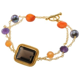 Michael Valitutti Kristen Multi-Gemstone and Pearl Bracelet (8 mm)