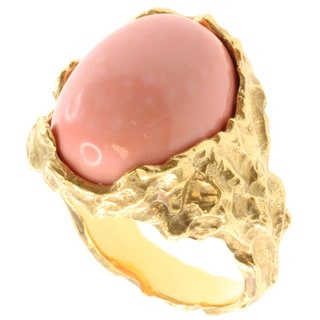 Michael Valitutti Gold over Silver Coral Ring