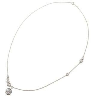 Michael Valitutti 14k White Gold Cubic Zirconia Necklace