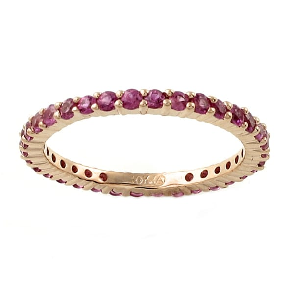 Beverly Hills Charm 10k Rose Gold Pink Sapphire Eternity Band