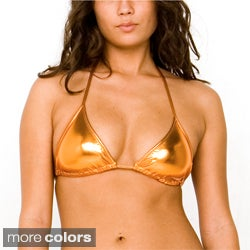 American Apparel Metallic Triangle Swim Top