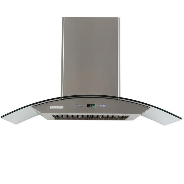 xtremeair prox stainless steel and glass 42inch island range hood