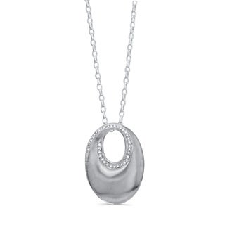 Victoria Kay Sterling Silver 1/6ct TDW Diamond Circle Necklace