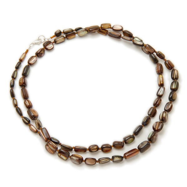 Alex Rae by Peyote Bird Designs Golden Brown Shell Necklace