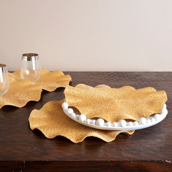 Curly Gold Placemats (Set of 4)