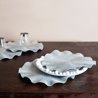 Ruffled Silver Placemats (Set of 4)