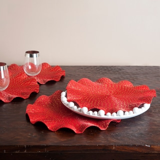 Curly Red Placemats (Set of 4)