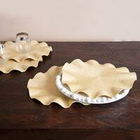 Ruffled Champagne Placemats (Set of 4)