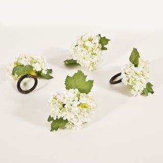Vibernum White Napkin Rings (Set of 4)
