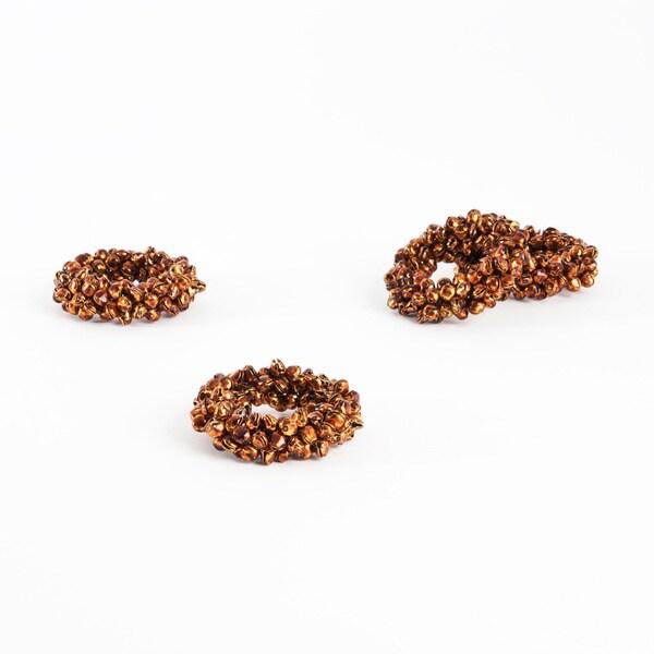 Saro Petite Bell Copper Napkin Rings (Set of 4)