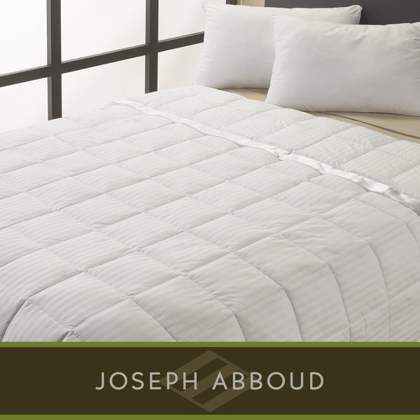 Joseph Abboud Oversized Classic Damask Stripe Down-like Blanket