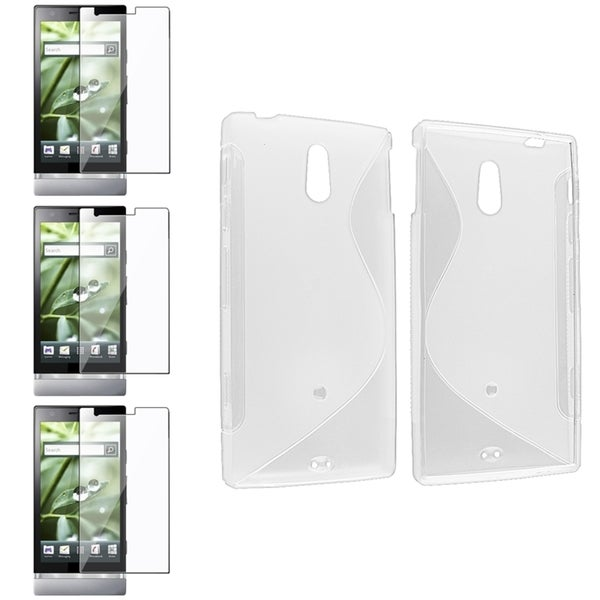 BasAcc Clear S-Line TPU Case/ LCD Protector for Sony Xperia P LT22i
