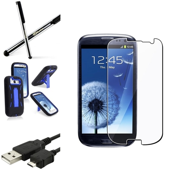 BasAcc Dual-Layered Case/Screen Protector/Stylus for Samsung Galaxy S3
