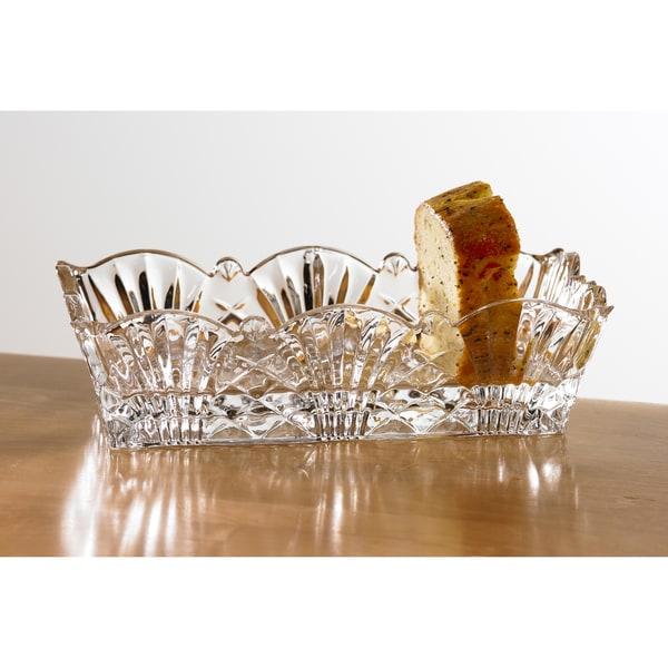 Fifth Avenue Crystal Wellington Glass Crystal Bread Tray