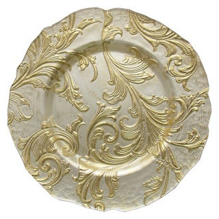 ChargeIt! By Jay Vanessa 13-inch Gold Charger Plate