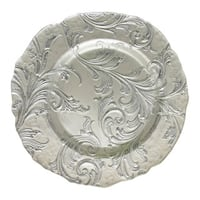 ChargeIt! By Jay Vanessa 13-inch Silver Charger Plate