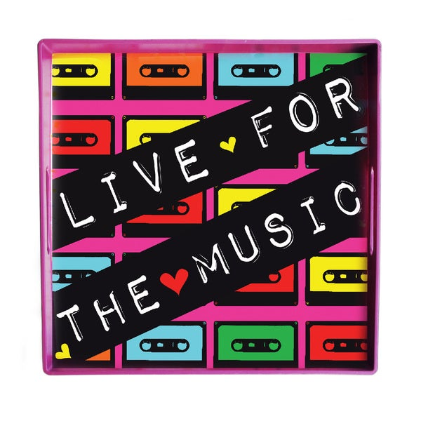 American Atelier Louise Carey 'Live for the Music' 14-inch Square Tray