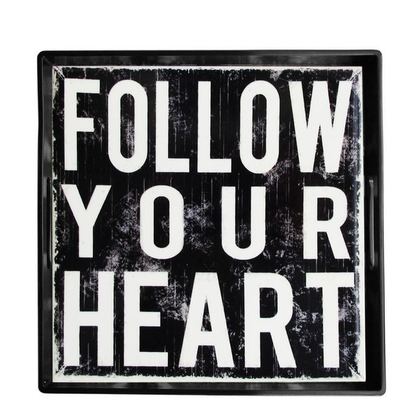 Notions by Jay Louise Carey 'Follow Your Heart' 14-inch Square Tray