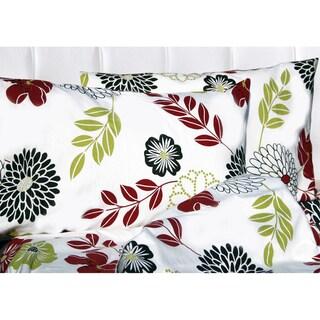 Tribeca Living Floral Printed Extra Deep Pocket Flannel Sheet Set