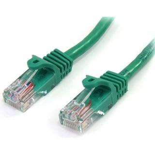StarTech.com 25 ft Cat5e Green Snagless RJ45 UTP Cat 5e Patch Cable -