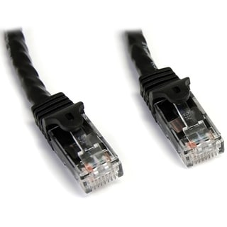 StarTech.com 15 ft Black Snagless Cat6 UTP Patch Cable