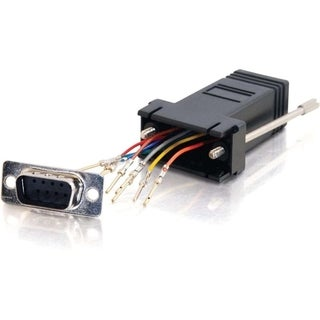 C2G RJ45 to DB9 Male Modular Adapter - Black