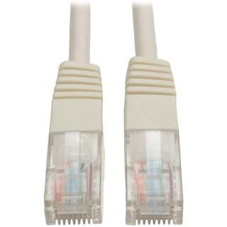 Tripp Lite 3ft Cat5e / Cat5 350MHz Molded Patch Cable RJ45 M/M White