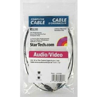 StarTech.com 3 ft Toslink SPDIF Optical Digital Audio Cable