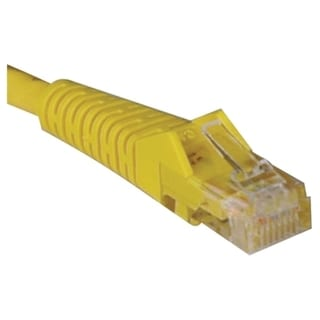 Tripp Lite 3ft Cat5e / Cat5 Snagless Molded Patch Cable RJ45 M/M Yell