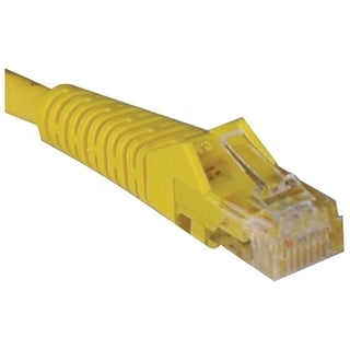 Tripp Lite 25ft Cat5e Cat5 Snagless Molded Patch Cable RJ45 M/M Yello