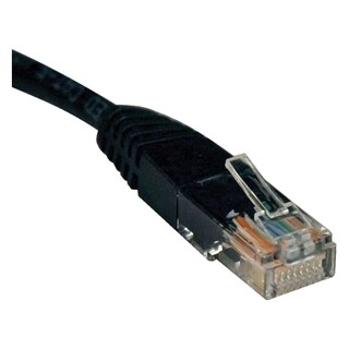 Tripp Lite 6ft Cat5e / Cat5 350MHz Molded Patch Cable RJ45 M/M Black