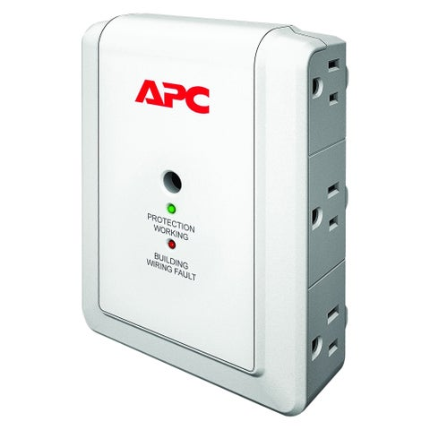 APC by Schneider Electric SurgeArrest Essential P6W 6-Outlets Surge S