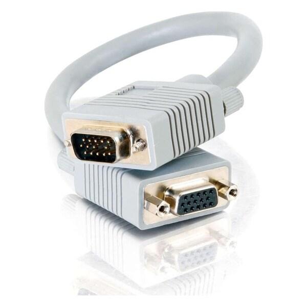 C2G 1ft Premium Shielded HD15 SXGA M/F Monitor Extension Cable