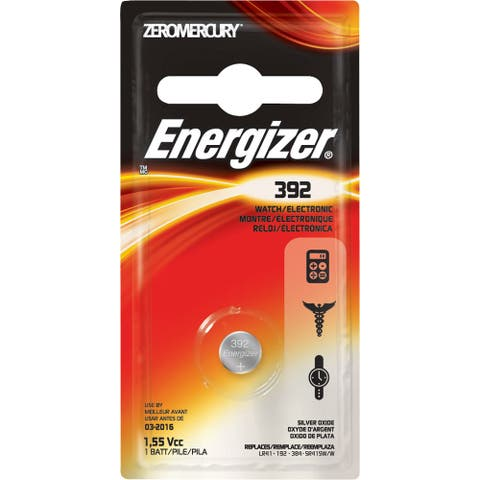 Energizer 392 Silver Oxide Button Battery, 1 Pack