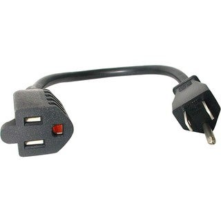 StarTech.com 12in Power Cord Extension - NEMA 5-15R to NEMA 5-15P