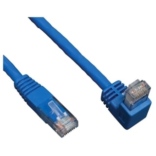 Tripp Lite 3ft Cat6 Gigabit Molded Patch Cable RJ45 Right Angle Down