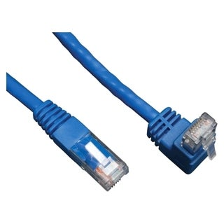 Tripp Lite 3ft Cat6 Gigabit Molded Patch Cable RJ45 Right Angle Up to