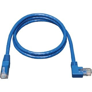 Tripp Lite 3ft Cat6 Gigabit Molded Patch Cable RJ45 Right Angle to St