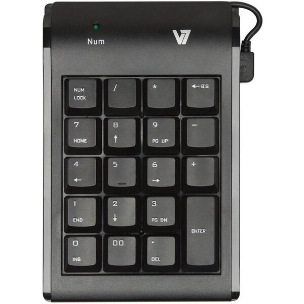V7 KP0N1-7N0P Numeric Keypad - Wired - Black