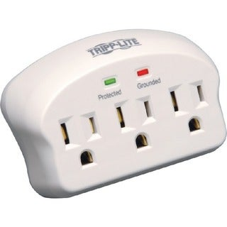 Tripp Lite Surge Protector Wallmount Direct Plug In 3 Outlet 660 Joul