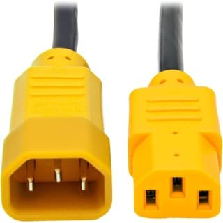 Tripp Lite 4ft Computer Power Cord Extension Cable C14 to C13 Yellow