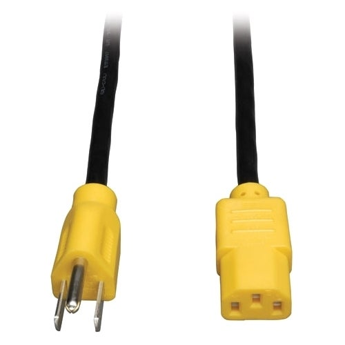 Tripp Lite 4ft Computer Power Cord Cable 5-15P to C13 Yel...